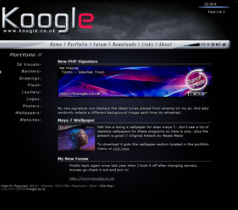 3d portfolio website