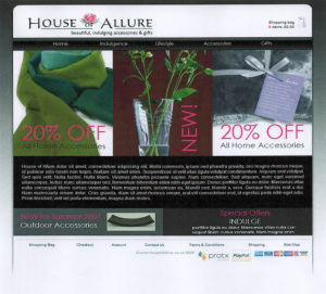 House of Allure Frontpage