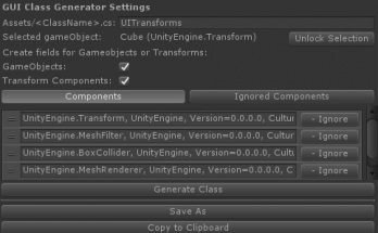Unity Class Generator
