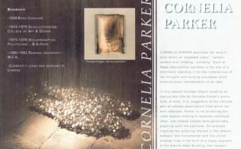 Cornelia Parker Leaflet